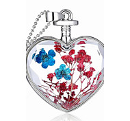 Fashion Jewelry Romantic Crystal Glass Heart Shape Floating