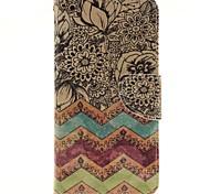 Pour Samsung Galaxy Coque Porte Carte Avec Support Clapet Magnétique Motif Coque Coque Arrière Coque Fleur Polycarbonate pour Samsung