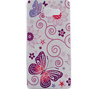 Butterfly Pattern TPU Soft Phone Case for Samsung Galaxy A3 10(2016)/A5 10(2016)/A7 10(2016)