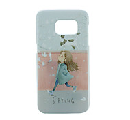 Shopping Girl PC Phone Back Cover Case for Galaxy S7