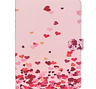 Pink Hearts Folio Leather Stand Cover Case With Stand for iPad Air