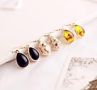 The new droplets pendant earrings alloy earring golden