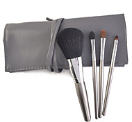 4 Pcs Makeup Brushes Set Synthetic Hair Travel / Portable Wood Face / Eye / Lip Others