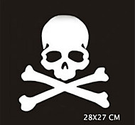 28X27CM Funny Ghost rider skulls Car Sticker Car Window Wall Decal Car Styling (1pcs)