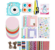 Fujifilm Instax Mini 8 Instant Photo Polaroid Camera Accessory Kit Gift (Mini Film PC Protective Case Sticker Album)