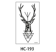 (1pcs) New Design Fashion Deer Temporary Tattoo Stickers Temporary Body Art Waterproof Tattoo Pattern