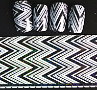 5pcs 20*4cm 2016 New Japanese White  Series Nail Art Big Wave Image Design Transfer Foils DIY Nail Sticker STZ Jw5