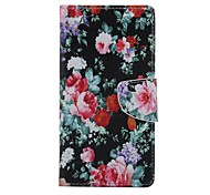 Peony Card About Open Holster with Stand for Samsung Galaxy S7