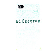 ED Sheeren Pattern Hard Case for iPhone 4/4S