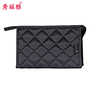 Makeup Storage Cosmetic Bag / Makeup Storage PU Solid Quadrate 20.5x6x13cm Black / Red