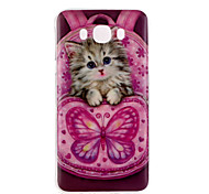 kitten Pattern TPU Soft Case for Galaxy J1 Ace/Galaxy J5(2016)/Galaxy J1(2016)