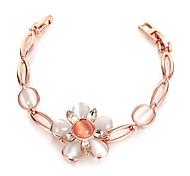 Chaînes & Bracelets 1pc,Or Rose Bracelet Alliage / Opale / Plaqué Or Rose Bijoux Femme