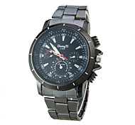Fashion Men's Watches  Brand Zhongyi Watch Black Quartz Casual Wristwatches