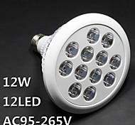 E26/E27 Luz de LED para Estufas PAR38 12 LED de Alta Potência lm Rosa AC 100-240 V 1 pç