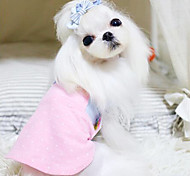 Dog Coat Yellow / Blue / Pink Dog Clothes Summer Fashion
