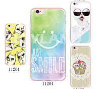 MAYCARI®Smiling Face Soft Transparent TPU Back Case for iPhone 6/6S(Assorted Colors)