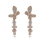Full Crystal Zircon Earrings Drop Earrings for Women Butterfly Earrings Fashion Jewelry Accessories