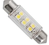 guidato auto luce interna 12v bianco 6 LED SMD lampadina di cupola dell'automobile del festone 39 millimetri (2 pezzi)