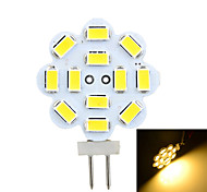 3W G4 2-pins LED-lampen Verzonken ombouw 12 SMD 5730 200-300 lm Warm wit / Koel wit Decoratief DC 12 / AC 12 V 1 stuks