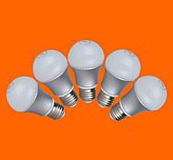 5 PC fsl® E26 / E27 5W 10 SMD 3528 350 lm cálido bombillas blanco / fresco g blanco Mundo de 220-240 V CA