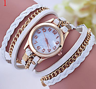 Ladies' Watch Creative Woven Rope Woven Round Chain Bracelet Watch