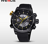 WEIDE® Double Movement Analog Digital Date Alarm Stopwatch Display Waterproof PU Strap Watch