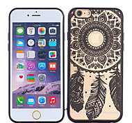 Feather Color Embossed Pattern TPU+PC Mobile Phone Protection Shell Chinese Style for iPhone 6/6S 4.7""