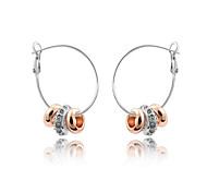 Austria Crystal Hoop Earrings for Women Beads Earrings Fashion Jewelry Accessories
