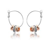 Austria Crystal Hoop Earrings for Women Beads Earrings Fashion Jewelry Accessories