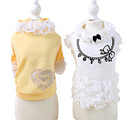 Dog Coat White / Yellow Summer Fashion