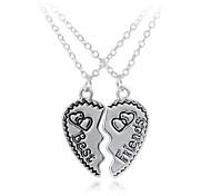 Lovers Fashion Letters Best Friend Heart Necklace
