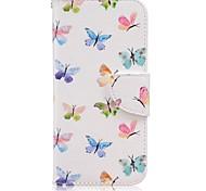 Dança da borboleta pintada caso de telefone pu para Galaxy S7 / s7edge