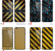 "iPhone 6/6S Body Art Skin Sticker: ""Black and Yellow Metal, Cubes, Copper Brown Circle Metal"" (Abstract Series)"