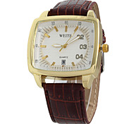 Men's Watch WeiTe With Calendar Square Men's Watch Wrist Watch Cool Watch Unique Watch