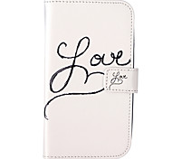 Love Pattern Embossed PU Leather Case for Galaxy Grand Neo