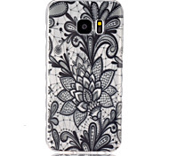 For Samsung Galaxy Case Transparent Case Back Cover Case Flower TPU SamsungS7 / S6 edge / S6 / S5 Mini / S5 / S4 Mini / S4 / S3 Mini / S3