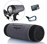 Bluetooth-Lautsprecher / bewegliche Energienbank / LED / calling Antwort / tf Stereo-5 in 1 + Halter + Sport Haken + 8gb tf Karte