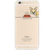 "Originality Design Puppy Corgi Eat""Apple""Light TPU Phone Case for IPhone 6/6s"
