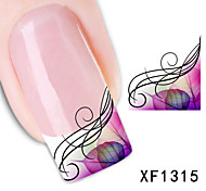 40sheets  Mixed Cartoon Flower Water Transfer Sticker Nail Art Beautiful DIY STZ001-040