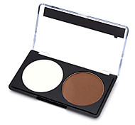 2 Powder Wet / Matte / Mineral Pressed powder Whitening / Long Lasting / Natural Face Multi-color Zhejiang MJ