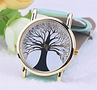 Hot Selling Leather Strap Tree of Life Golden Foil Watches Casual Luxury Quartz WatchLeather band