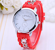Women's Fashion Watch Color Plastic Jelly Watch Fashion Chains