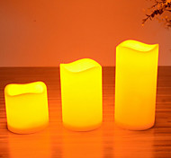 LED Candles Set for Birthday Christmas Party Three Different Size Candles S/M/L