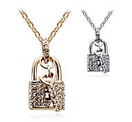 HUALUO®Fashion Jewelry Full Diamond Key Necklace - Heart Lock