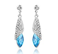 Full Crystal Zircon Earrings Drop Earrings for Women Long Earrings Fashion Jewelry Accessories