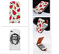 Matermelon Patten Up-down Turn Over PU Leather Full Body Case for iPhone 4/4S