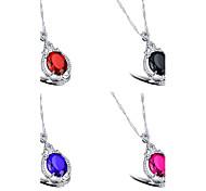 Color Diamond Ms Titanium Steel Necklaces