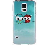 zwei Vögel auf dem Draht imd + tpu zurück Fall für Samsung-Galaxie s5