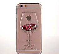 For iPhone 6 Case / iPhone 6 Plus Case Flowing Liquid / Transparent Case Back Cover Case 3D Cartoon Soft TPUiPhone 6s Plus/6 Plus /