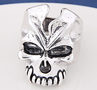 Unisex Retro Fashion Metal Skull Exaggerated Alloy Ring Band Rings